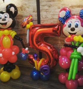 Мультяшки из воздушных шаров