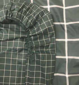 Простынь на резинке, пошив постельного белья