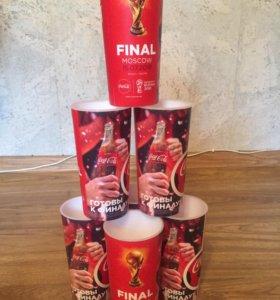 Коллекционные стаканы Coca Cola с финала ЧМ 2018