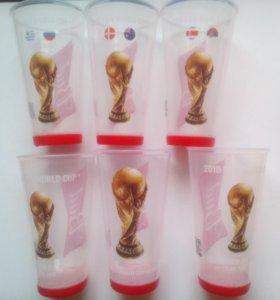Стаканы с матчей Чемпионата мира по футболу 2018