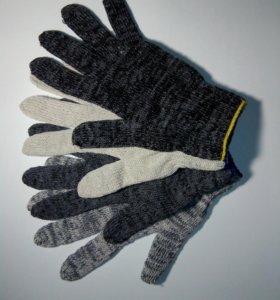 Перчатки х/б с ПВХ, латексный облив
