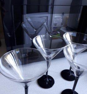 Бокалы для мартини или коктейлей(стекло) 4 шт