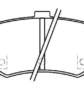 Колодки тормозные задние HSB - HYUNDAI SONATA