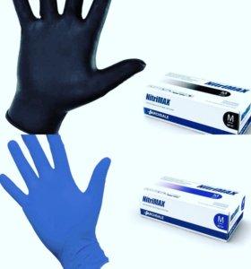 Перчатки nitrimax чёрные фиолетовые xs s m 100шт
