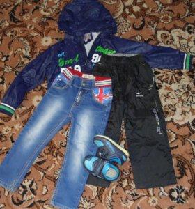 куртка, кроссовки, джинсы и штаны (осень)