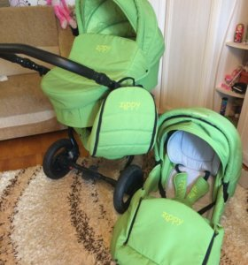 Коляска детская Zippy Sport 2в1 зелёная