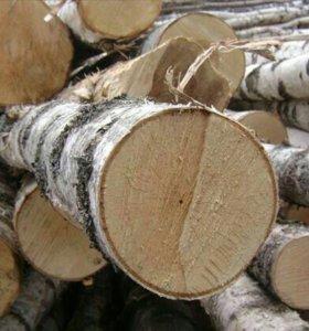 Дрова березовые в чурках и колотые в наличии