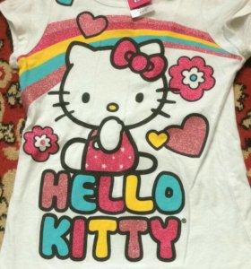 Футболка на девочку Hello Kitti 110