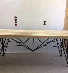 стол ручной работы в стиле лофт 230* 76