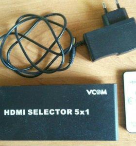Переключатель HDMI 5х1 VCOM (DD435)