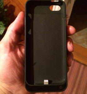Чехол-зарядка на iPhone 5/5s/5c/SE