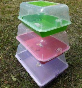 Террариумы пластиковые новые