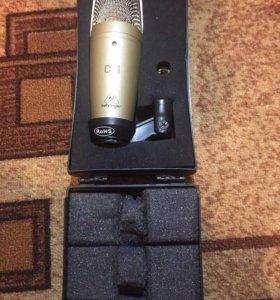 Микрофон Behringer c-1 +внешняя звуковая карта!