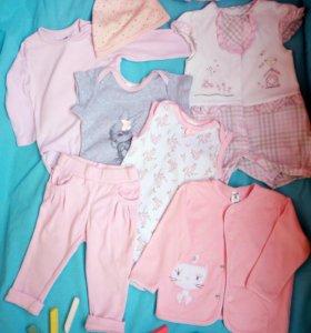 Пакет №2 Одежды на девочку 6—9 мес.