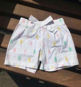 Летние шорты с принтом мороженого