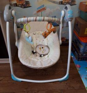 Качеля-шезлонг для новорожденных, работает от сети