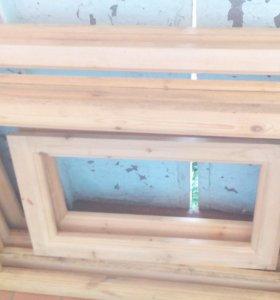 Деревянные коробки для окон с рамами