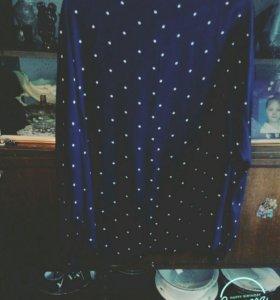 Рубашка темно синего цвета в горох