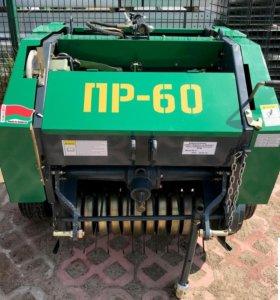 Пресс-подборщик пр-60 для минитрактора