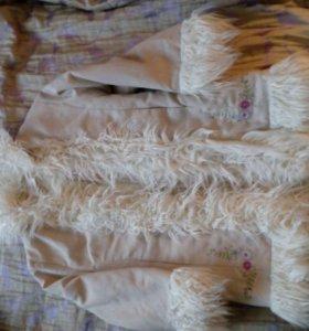 Пальто дубленка зима