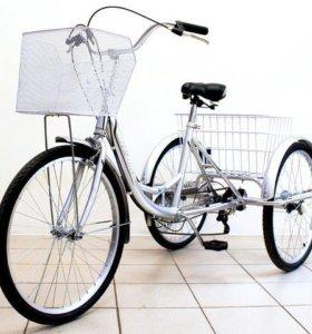 трехколесный новый и взрослый велосипед