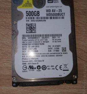 Жесткий диск Western Digital AV-25 500 Гб WD5000BU