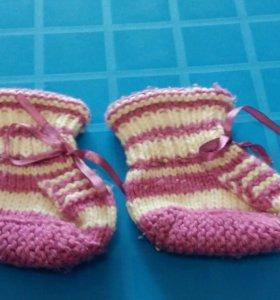 Носки пинетки детские теплые
