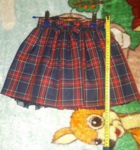 Жилет и юбка для школы