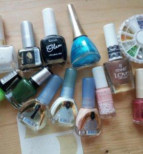 Новые лаки и блестки для ногтей / набор для френча