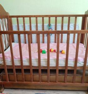 """Детская кровать """"Можга"""" с матрасом"""