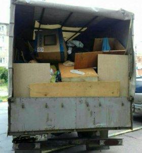 Вывоз мусора,старой мебели,хлама и др.