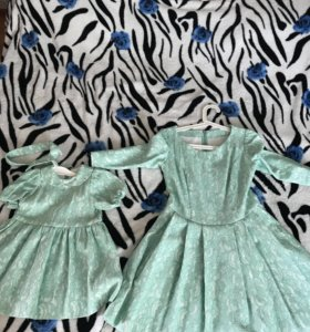 Платье на маму и дочку Family Look