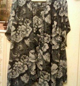 Комплект блузка и кардиган