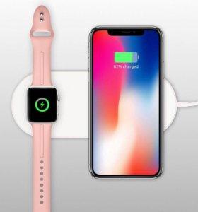 Беспроводные зарядки на apple и Андроид на 2;3 уст