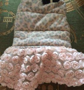 Утеплённое платье для собачки