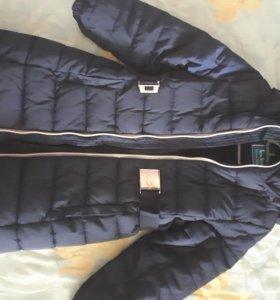 Пальто пуховик зимний 122см