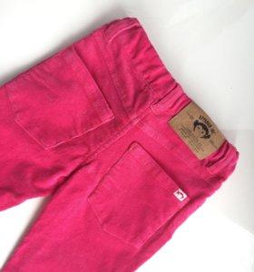 Штаны на девочку 2 года. Розовые вельветовые брюки