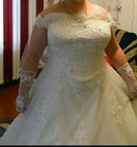 продам платье свадебное 52-54 торг