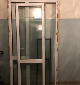 Балкон, дверь, пластик