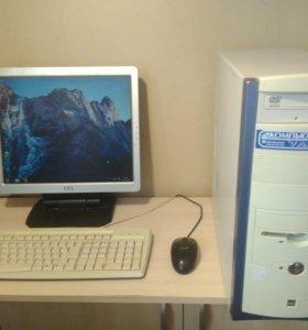 Компьютер , в подарок монитор