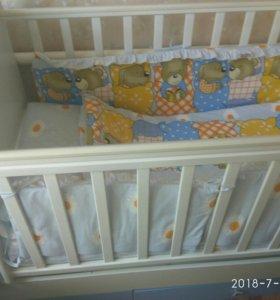 Кроватка детская , трансформер