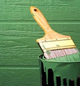 Покраска крыш домов, заборов, ставень