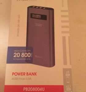 Внешний аккумулятор,20 800 mAh, 4 USB