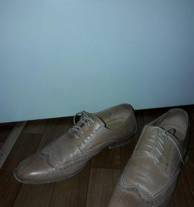 Ботинки, кожа