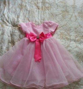 Нарядное платьице для девочки 3-4х лет