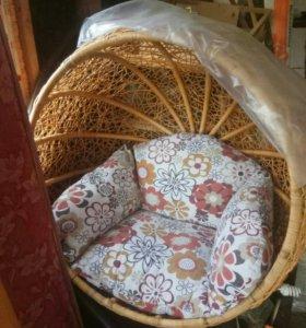 Шикарное Кресло - качалка из Натурального ротанга