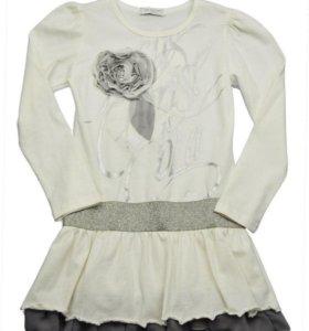 Платье-туника для девочек, рост 154 см