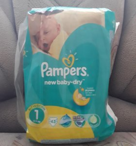 Pampers new baby-dry 1(2-5кг) 43 штуки