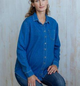 Джинсовая рубашка для беременных ASOS Maternity