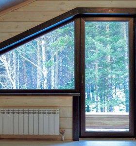 Ламинированные окна и двери ПВХ от производителя!